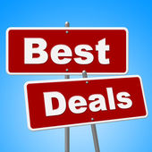 Best Deals Signs Shows Cheap Promotion And Sales — Stock Photo