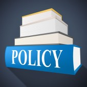 Policy Book Means Rule Conditions And Textbook — 图库照片