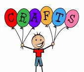 Crafts Balloons Indicates Bunch Male And Designing — Stok fotoğraf