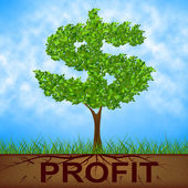 Profit Tree Shows United States And Banking — Stock Photo