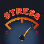 Stress Gauge Means Indicator Dial And Pressure — Stock Photo