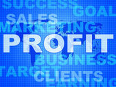 Profit Words Indicates Investment Earnings And Corporate — Stock Photo