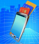 Credit Card Online Indicates World Wide Web And Bankcard — Stock Photo