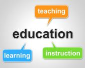 Education Words Represents Learning Tutoring And Schooling — Stock Photo
