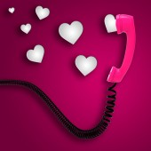 Romantic Call Indicates Text Space And Chat — Stock Photo