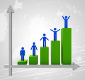 Graph Increasing Means Trend Up And Grow — Stock Photo