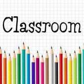 Classroom Pencils Represents Educate Schooling And Kid — Stock Photo
