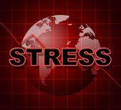 Stress Graph Represents Profit Pressure And Stressing — Stock Photo