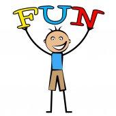 Kids Fun Represents Cheerful Jubilant And Children — Stock Photo