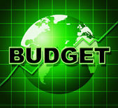 Budget Graph Means Costing Expenditure And Statistic — Stock Photo