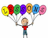 Lessons Balloons Indicates Educating Learned And Childhood — Stock Photo