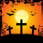 Halloween Graveyard Represents Trick Or Treat And Afterlife — Stock Photo