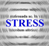 Stress Definition Indicates Explanation Pressures And Tension — Стоковое фото