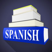 Books Spanish Means Translate To English And Dialect — Stock Photo