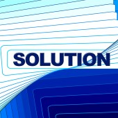 Solution Word Represents Solve Commercial And Goal — Stock Photo