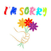 I'm Sorry Flowers Shows Apologise Remorse And Apologize — Stock Photo