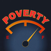 Poverty Gauge Shows Stop Hunger And Display — Stock Photo