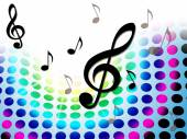 Music Background Shows Treble Clef And Composer — Stock Photo