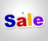 Sale Sign Represents Clearance Discounts And Promotion — Stock Photo
