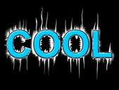 Cool Word Means Coldness Frost And Frosty — Stock Photo