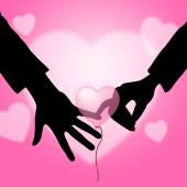 Holding Hands Represents Find Love And Affection — Stock Photo