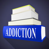 Addiction Book Means Craving Fiction And Books — Stock Photo