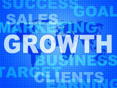 Growth Words Represents Advance Rising And Development — Stock Photo