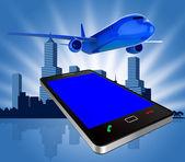 Book Flights Indicates Transportation Jet And Order — Stock Photo