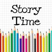 Story Time Represents Imaginative Writing And Children — Stock Photo