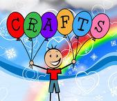 Crafts Balloons Shows Artwork Sculptor And Creative — Stok fotoğraf