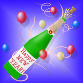 Happy New Year Shows Parties Celebration And New-Year — Stock Photo
