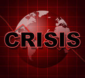 Crisis Graph Represents Investment Finance And Problems — Stock Photo