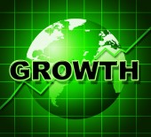 Growth Graph Means Financial Expansion And Forecast — Stock Photo