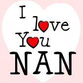 I Love Nan Represents Romance Grandma And Granny — Stock Photo