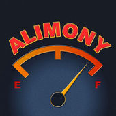 Alimony Gauge Shows Divorced Indicator And Divorce — Stock Photo