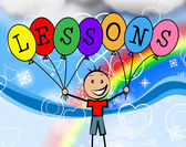 Lessons Balloons Represents Learning College And Train — Stock Photo