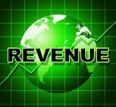 Revenue Graph Represents Income Graphs And Diagram — Stock Photo
