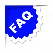Faq Label Represents Frequently Asked Questions And Advice — Foto de Stock