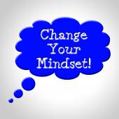 Change Your Mindset Means Think About It And Reflecting — Stockfoto