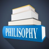 Philosophy Book Shows Non-Fiction Morality And Reasoning — Stock Photo