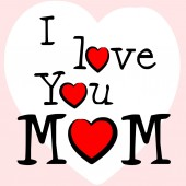 I Love Mum Represents Tenderness Mother And Passion — Foto Stock