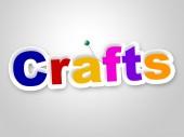 Crafts Sign Represents Design Creative And Artwork — Stok fotoğraf