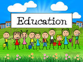 Education Banner Represents Training Kid And College — Stock Photo