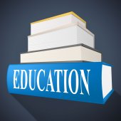 Education Book Represents Non-Fiction School And Educated — Stock Photo