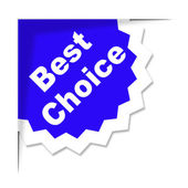 Best Choice Means Finest Ideal And Chief — Stock Photo