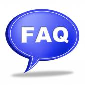 Faq Speech Bubble Means Information Asking And Questions — Stock Photo