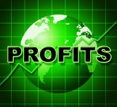 Profits Graph Shows Earn Investment And Diagram — Foto de Stock