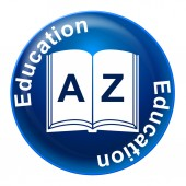Education Sign Indicates Tutoring Development And Educated — Stock Photo
