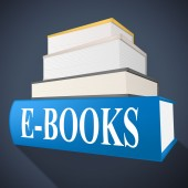 E Books Shows World Wide Web And Fiction — Stock Photo
