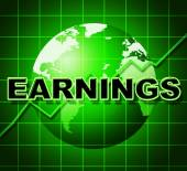 Earnings Graph Indicates Earns Incomes And Infochart — Photo